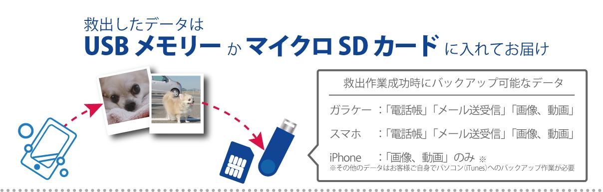 救出データはマイクロSDカードなどでお届け